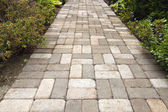 Garden Brick Paver Path Walkway — Stock Photo