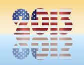 New Year 2013 USA Flag Illustration — Stock Vector
