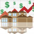 Royalty-Free Stock Vector Image: House Rising Value Graph