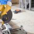 Table Saw at Construction Site — Stock Photo