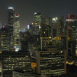 Stock Photo: Singapore Financial District Skyline at Night