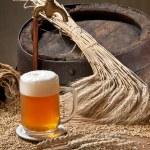 Beer with malt and spigot — Stock Photo #11043206