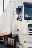 Truck driver and his truck. — Stock Photo
