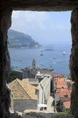 Dubrovnik, fortress and the old town with harbor — Stock Photo