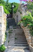 Narrow old street in Dubrovnik, Croatia — Stock Photo
