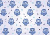 Owl wallpaper — Stock Vector