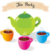 Tea party — Stock Vector