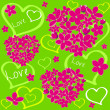 Flower love2 - Stock Vector