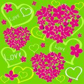 Flower love2 — Stock Vector