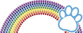 Rainbow logo — Stock Vector