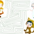 Little red riding hood labyrinth — Stock Photo #11502278