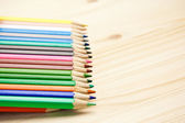 Close up of many different color pencils — Stock Photo