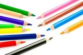 Set of colorful pencils arranged — Stock Photo