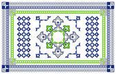 Arabic Style Carpet Design — Stock Vector