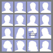 15 Social Networks Anonymous Avatars — Stock Vector