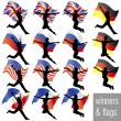 Royalty-Free Stock Vector Image: Athletes With Flags Set