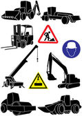Construction transportation — Stock Vector
