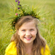Girl with wreath — Stock Photo #10949964