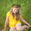 Girl in meadow — Stock Photo #10949977