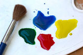 Brush and watercolors — Stock Photo