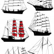 Old ships — Stock Vector