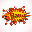 Bam. Comic book explosion. — Stock Vector
