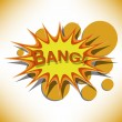 Bang. Comic book explosion. - Stock Vector