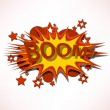 Stock Vector: Boom. Comic book explosion.