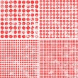 Polka dot grunge pattern — Vector de stock