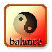 Ying yang symbol of harmony and balance — Stock Vector