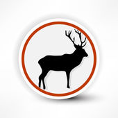 Prohibited from shooting elk, red mark on a white background. — Stock Vector