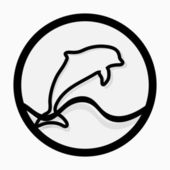 Dolphin vector icon — Stock Vector