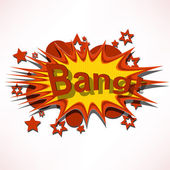 Bang. Comic book explosion. — Stock Vector
