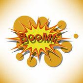Bang. Comic book explosion. — Stock Vector