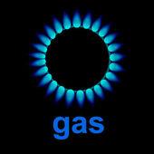 Vector flames of gas — Stock Vector