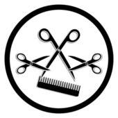 Haircut or hair salon symbol — Stock Vector