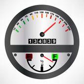 Car speedometer — Stock Vector