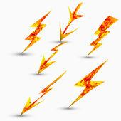 Kraftfull belysning symboler — Stockvektor