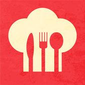 Cartel retro restaurante menú — Vector de stock