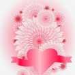 图库矢量图片: Flower heart, love concept, vector