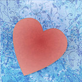 Painted brush heart shape. vector background. — Vector de stock