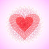 Flower heart, love concept, vector — Vettoriale Stock