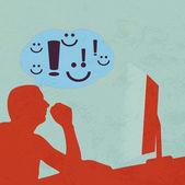 Brainstormen over internet — Stockvector