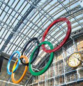 Olympic Rings in London St Pancras — Stock Photo