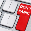 Stock Photo: Don't panic