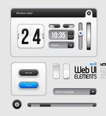 Web UI Elements Design Gray Blue: Part 5 — Stock Vector