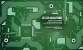 Printed Circuit Board Vector Background Green EPS10 — Stock vektor