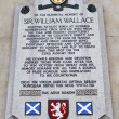 Stock Photo: William Wallace Memorial Plaque in London.