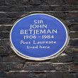 Stock Photo: Sir John BetjemPlaque in London