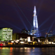 Stock Photo: Shard Laser Light Show in London